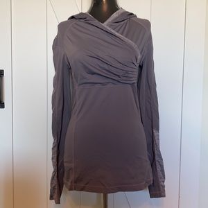 Lululemon run for your life pullover grey workout yoga ping sleeve